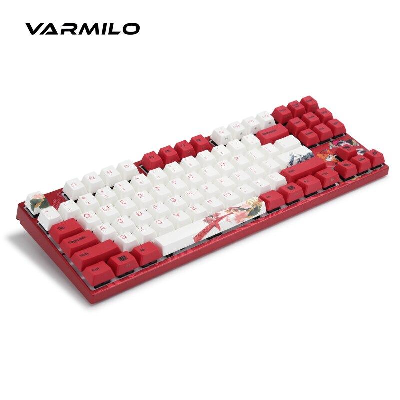 Varmilo koi teclado mecânico com fio de capacitância estática eixo v2 backlit teclado do jogo do computador