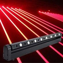 Led tête mobile laser spectacle lumière projecteur 8 tête rouge gros faisceau laser led 3w barre dj pour la musique soirée, théâtre, Pub