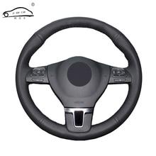 Tresse de volant de voiture en cuir artificiel   Pour Gol Tiguan Passat B7 Passat CC Touran/housse de volant sur mesure