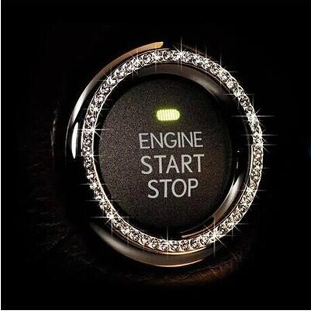 Car Start Stop Ignition Key Ring for Renault Koleos Fluenec Kangoo Latitude Sandero Kadjar Captur Talisman Megane RS Laguna