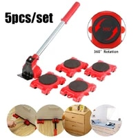 5pcs portable furniture mover transport lifter tool set heavy duty furniture remover lifter sliders kit wheel bar moving device