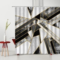 nordic abstract art shower curtains 3d modern minimalist geometric design bathroom decor polyester bathtub partition with hook