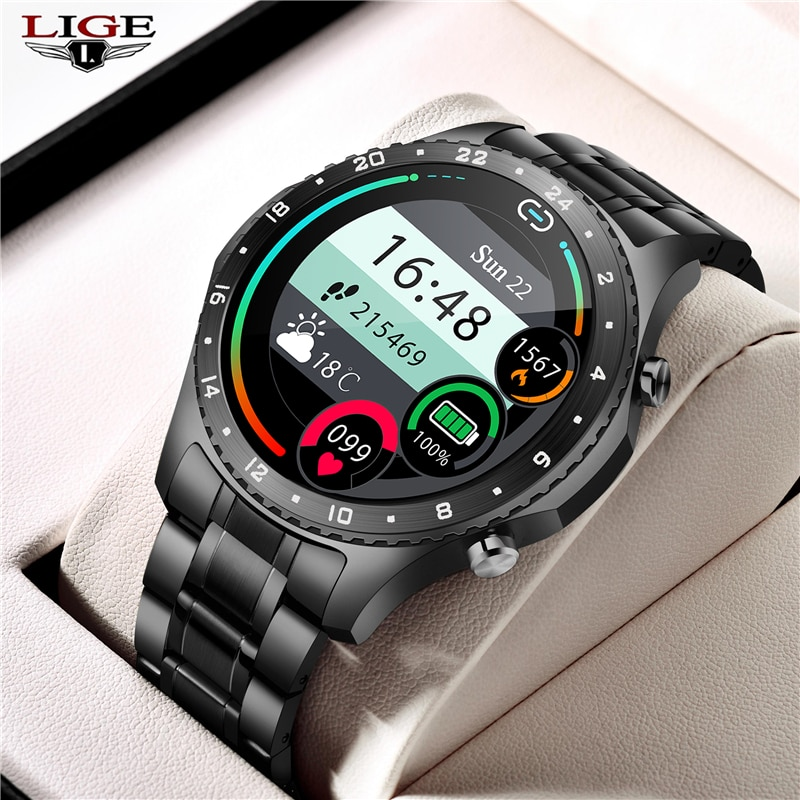 LIGE 2021 ساعة ذكية جديدة الرجال ساعة دعوة بلوتوث IP67 مقاوم للماء الرياضة ساعة ذكية للرجال لنظام أندرويد IOS الرجال ساعة ذكية