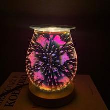 3D verre arôme lampe cire brûleur bougie fondeur papillon veilleuse pour cadeaux et décor maison bureau chambre salon
