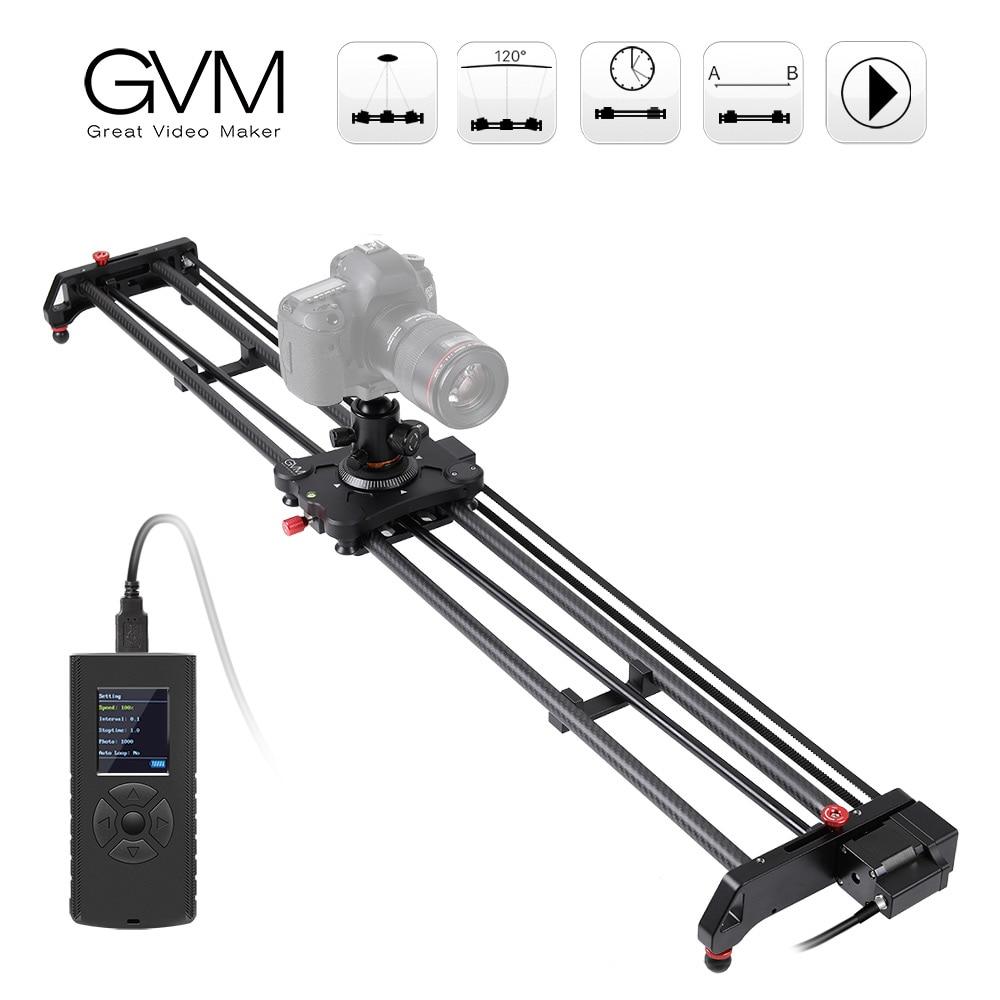 Cz الأسهم GVM GR-120QD 120 سنتيمتر/GR-80QD 80 سنتيمتر بمحركات حامل كاميرا متحرك المسار المنزلق دوللي استقرار بانورامية للهواتف الذكية كاميرا