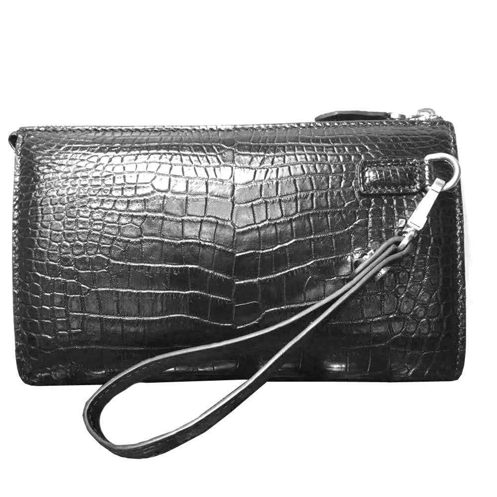 hongsen new arrival crocodile  belly  handbags  More screens  multi-function  Hand bag  male bag large capacity men clutch bag