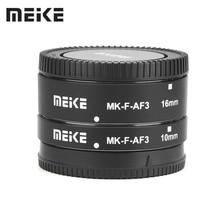 Meike MK-F-AF3 자동 초점 매크로 확장 튜브 10mm + 16mm 후지 X-T20 XT2 X-T10 XT3 XT100 X-H1 X-A5 X-PRO2 X-A1 X-T1 XT30