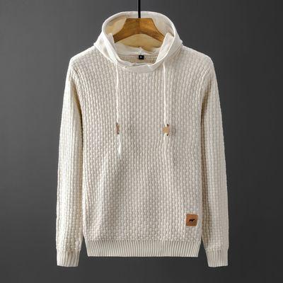 Мужские повседневные приталенные свитера, свитера, трендовые мужские свитера с капюшоном