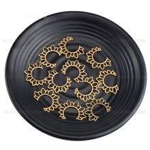 Lot de boucles doreilles en laiton, 4 à 500 pièces, breloques ouvertes avec le soleil, composant en métal Unique pour la fabrication de Lots de bijoux