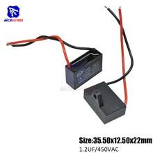 Diymore-condensador de funcionamiento de 2 cables para Motor de ventilador de aire acondicionado, CBB61 AC 450V, 1.2μF, ± 5%, capacitancia 50/60Hz