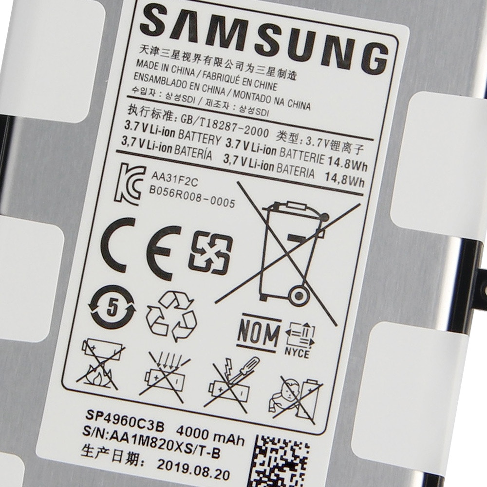 Battery SP4960C3B For Samsung Galaxy Tab 7.0 Plus P6200 P6210 P3110 P3100 Tab S2 T813 T815 T115 T116 T110 T111 Tab 3 T315 T310 enlarge