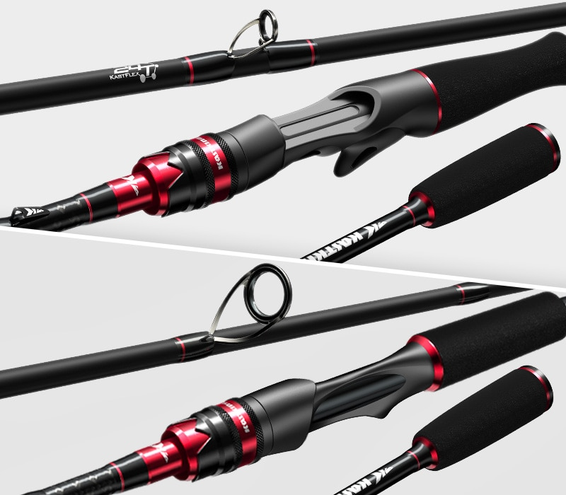 Carbon Spinning Casting Fishing Rod with 1.80m 2.13m 2.28m 2.4m Baitcasting Rod for Bass Pike Fishing enlarge