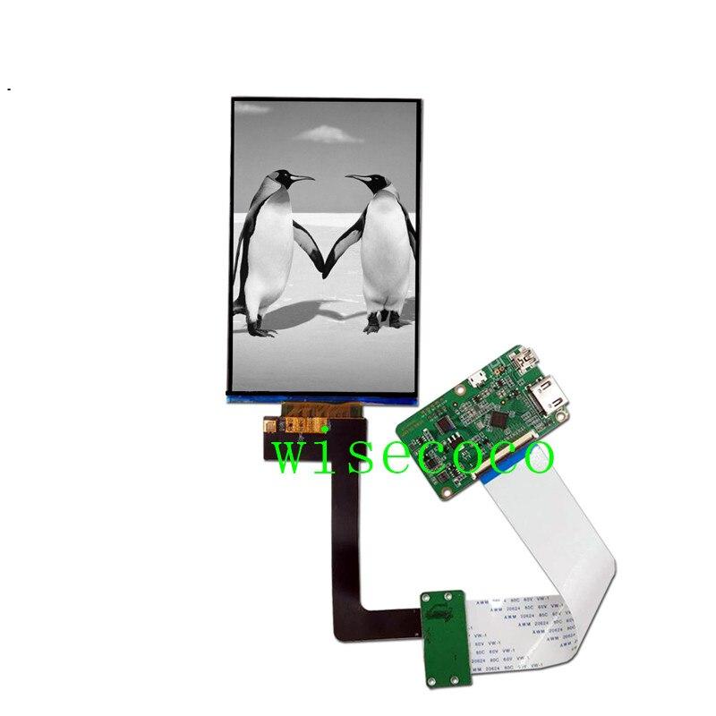 6.08 polegada tft ips monocromático lcd 2k lcd mono display hdmi placa 1620x2560 para lcd/sla impressora 3d