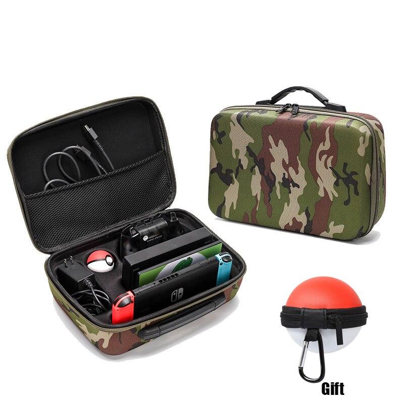 Nuevo bolso de Almacenamiento de camuflaje NS Estuche de transporte para Nintendo Switch, bolso de nailon EVA a prueba de golpes, accesorios para Nintendo Switch