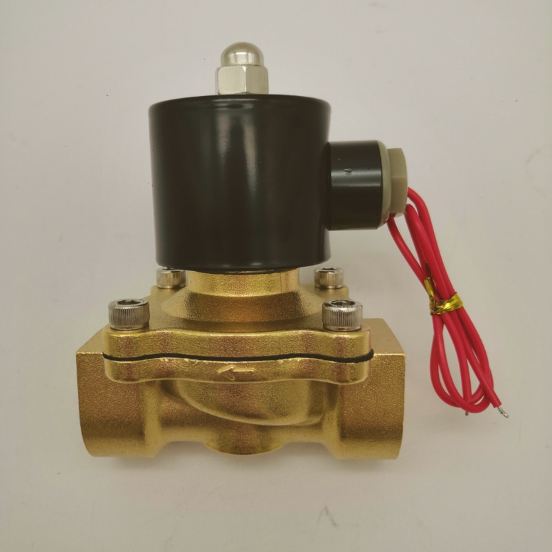 Chinese  manufacture  high performance big port size 2w350 2w brass water solenoid valve enlarge