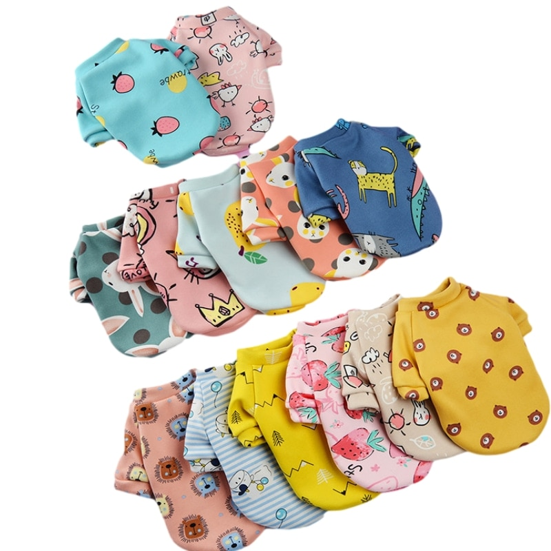 Pet Dog Clothes Lovely Sweatshirt Cat Clothes Small Medium Dogs Costume Autumn Winter Dog Jacket Sport Styles 12 Color