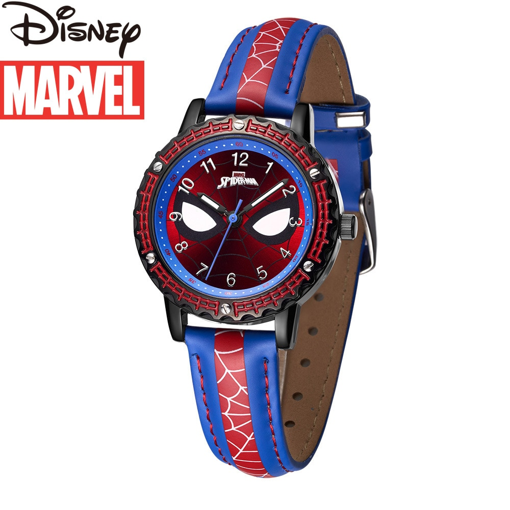 Original Marvel Spider-Man Watch for Kids Children's Watch Boys Belt Quartz Watch Kid Watch