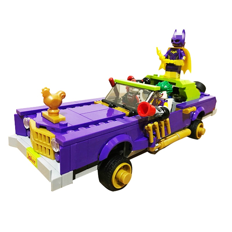 10633 450Pcs Batman Movie The Joker Notorious Lowrider Building Block DIY Brick Toys for Children Compatible 70906