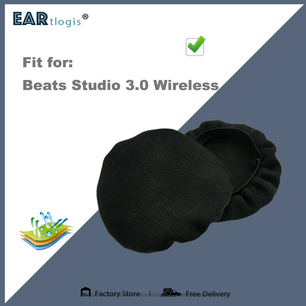 1 pair of Sleeve Stretch Covers Sweat Absorption Washable Germproof Deodorizing for Beats Studio 3.0 Wireless Headset enlarge