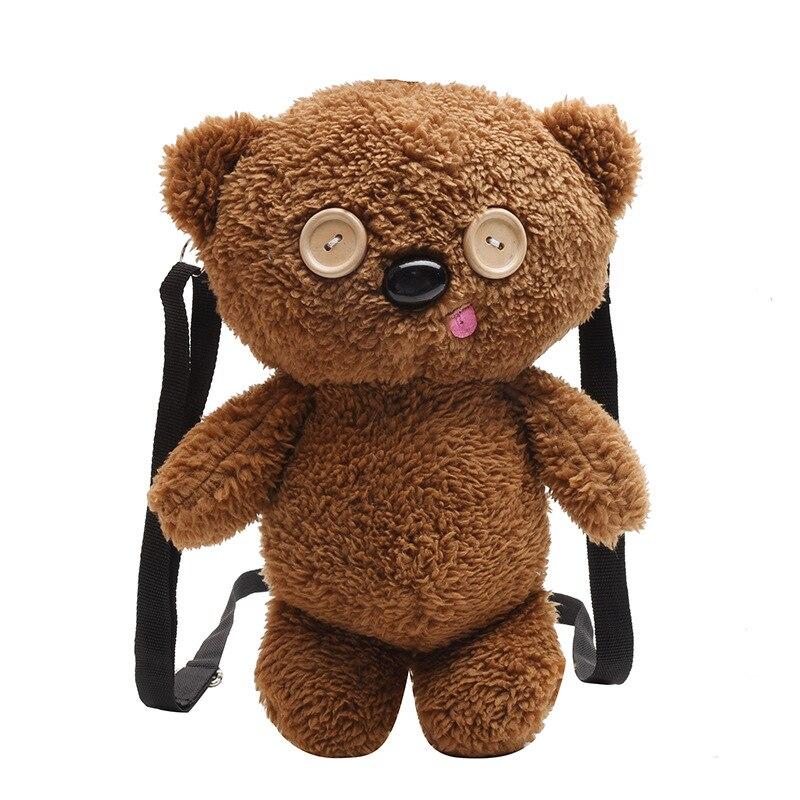 Cute Animals Cartoon Styles Plush Backpacks Baby Plush Toys kids Shoulder Bag Soft Plush Fabric Adult Phone Bag Coin Purse