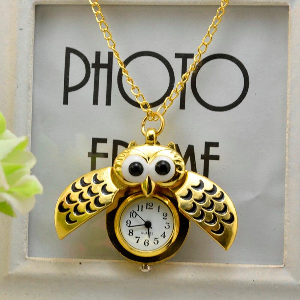 Reloj de bolsillo Vintage estilo Retro de búho colgante collar largo analógico reloj de bolsillo regalo Bundy fiesta regalo женские часы 03