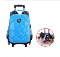 3D school trolley Bags with wheels wheeled school bag Kids Rolling Bag Children's Travel Bag 6 wheels School Trolley Backpack