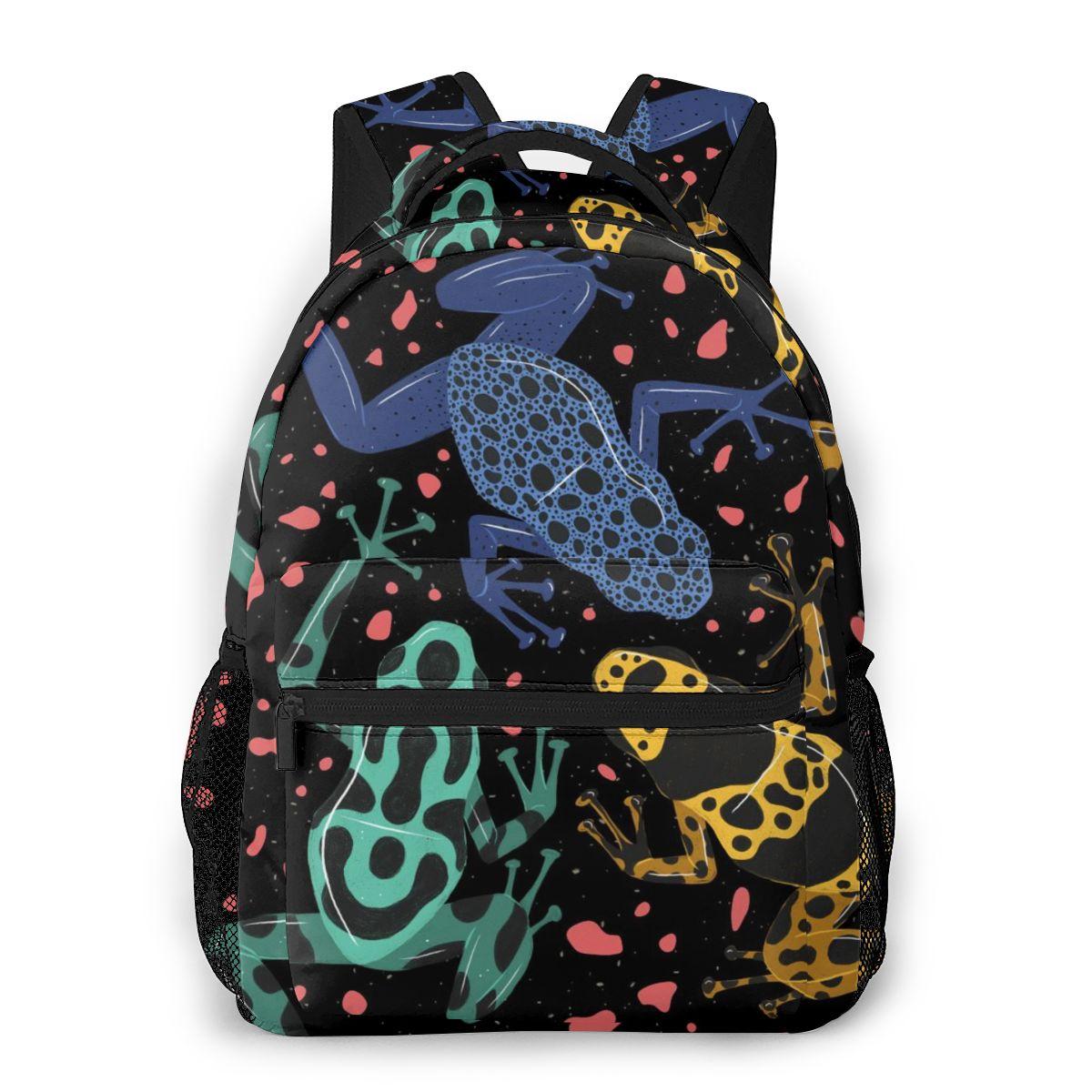 Mochila de ranas Poison Dart, mochilas escolares informales para adolescentes, bolso de hombro para chicas, bolsas de viaje