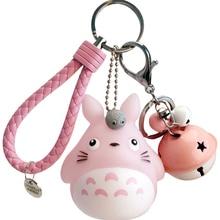 อะนิเมะเพื่อนบ้านของฉัน Totoro พวงกุญแจการ์ตูนน่ารัก Cat Ball จี้พวงกุญแจผู้หญิงกระเป๋า Keyholder Mini ตุ๊กต...