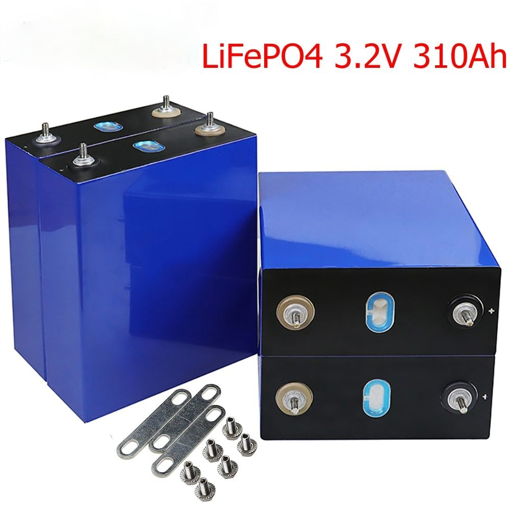 2021new 3.2V310Ah lifepo4 بطارية لتقوم بها بنفسك 12V310AH بطارية قابلة للشحن حزمة ل E-سكوتر RV نظام تخزين الطاقة الشمسية