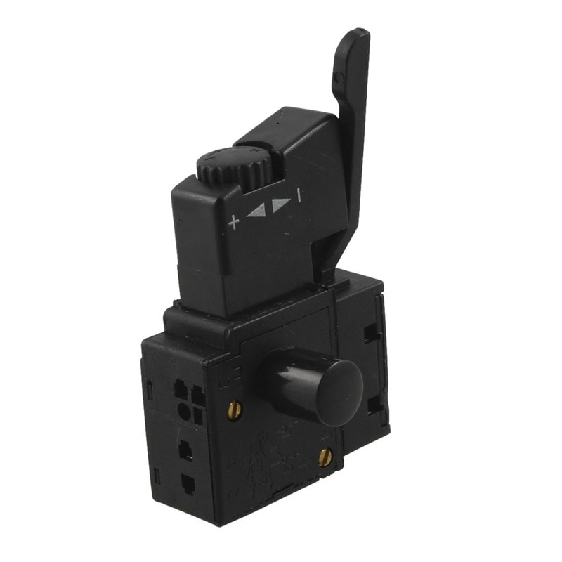 FA2-6/1BEK SPST bloqueo en herramienta eléctrica botón de disparo interruptor negro