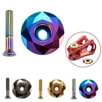 1pc bicycle bowl cover screws 3 colors stem top cap cover headset screws mountain bike parts cycling accessories set