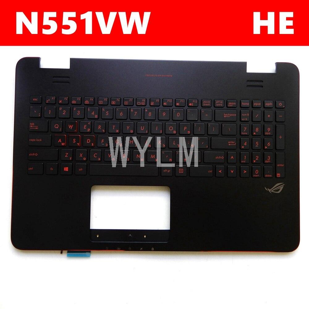 غطاء لوحة مفاتيح N551VW لـ ASUS N551VW N551V N551VW G551V G551VW إطار لوحة مفاتيح الكمبيوتر المحمول ثنائي اللغة C حافظة خارجية