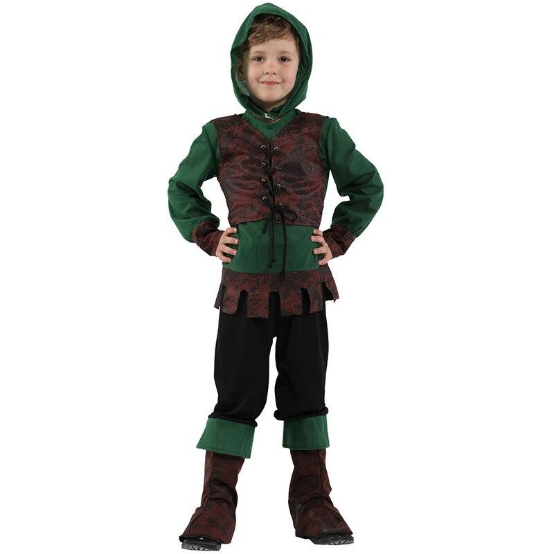 Niños niños Medieval Archer Hunter Robin Hood disfraz para niños Halloween Purim carnaval fiesta Mardi Gras traje Disfraces