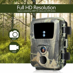 Mini Hunting Camera Wild Trail Camera 20MP 1080P Low Consumption Battery Powered PIR Detection Waterproof Outdoor Animal Camera