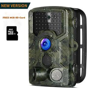 16MP 1080P Hunting Trail Camera +8GB Micro SD Card Surveillance Tracking HC800A Infrared Night Vision Wild Cameras Photo Traps