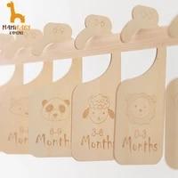 baby wooden milestone cards set baby closet dividers clothes organizers baby wardrobe dividers newborn supplies mom gift