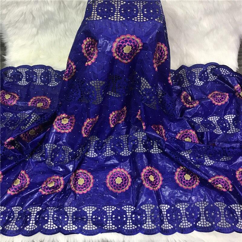 5 metros nova chegada africano bazin riche tecido com contas bordado rendas/bacia riche vestido material nigeriano 2l072201