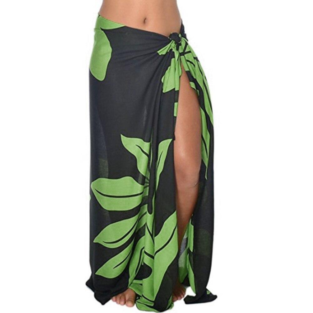 Mujer cubre trajes de baño de playa verano Bikinis cubrir estampado liso talla única túnica Floral algodón moda