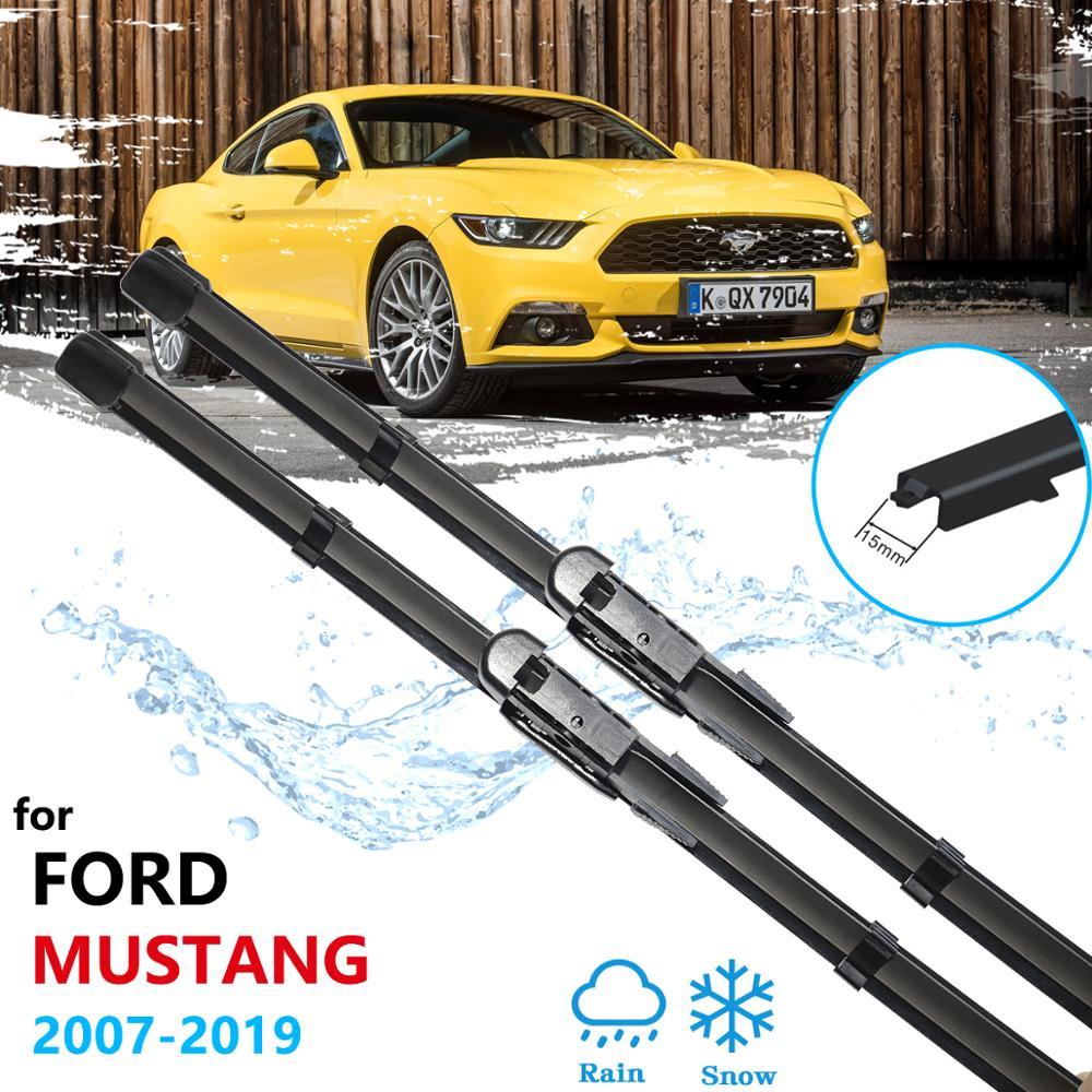 Dla Ford Mustang 2007 ~ 2019 2015 2016 2017 2018 2019 S550 EcoBoost wywozu GT wycieraczki samochodowe przednia szyba akcesoria samochodowe