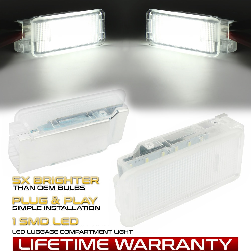 LED baúl luz guante caja suelo lámpara de Interior para Peugeot 308, 3008, 407, 408, 508, 5008 RCZ 1007, 206, 207, 307, 406, 607, 807
