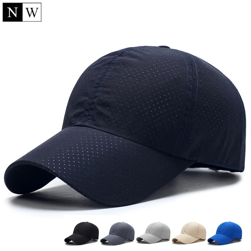 Solid Summer Baseball Cap Men Snapback Women Quick Dry Mesh Cap Breathable Sun Hat Bone Masculino Trucker Cap