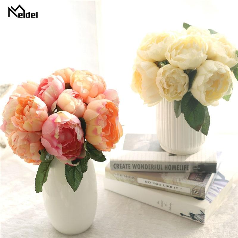 Букет невесты Meldel искусственный цветок Розовый пион сделай сам украшение для