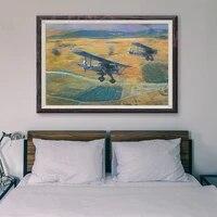 T017     peinture classique retro avec operations de vol davion de guerre  20 affiches en soie personnalisees  decoration murale  cadeau de noel