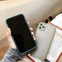 camera protection bumper phone case for iphone 11 pro x xr xs max 7 8 plus matte translucent shockproof hard back cover