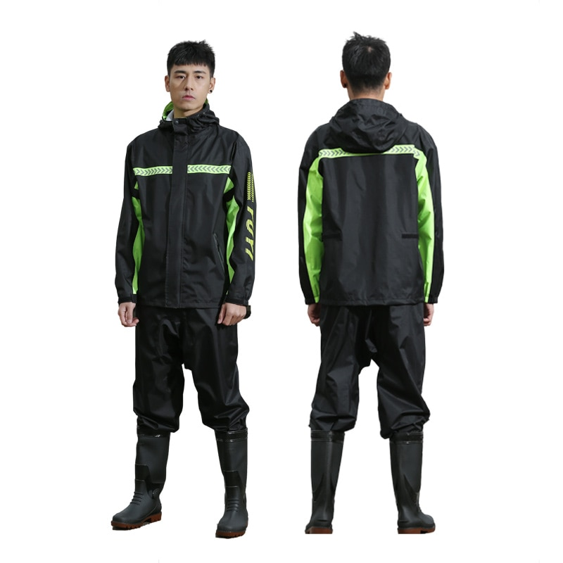 Thick Raincoat Suit Portable Hooded Waterproof Outdoor Raincoat Emergency Camping Supplies Chubasqueros Rain Gear BG50RG enlarge