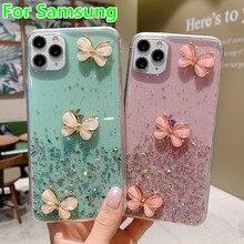 Luxe Étoile À Paillettes Papillon Pour Samsung Galaxy A01 A21 A31 A51 A71 A70 A50 A20 A30 A90 A80 A10S S20 Plus Note 10 9 Couverture