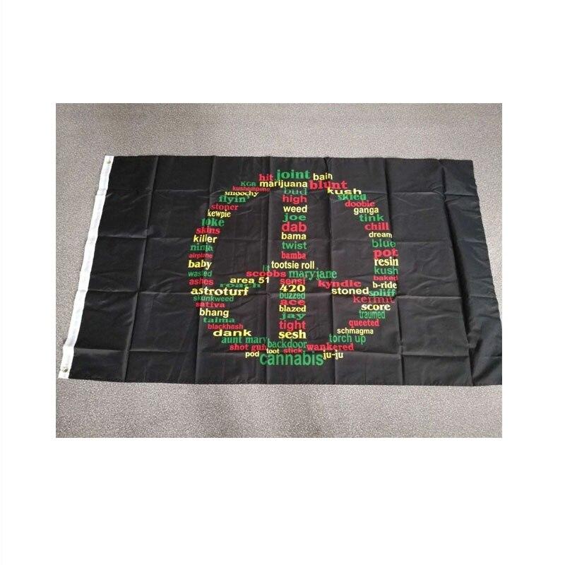 BOB Marley Reggae Rasta Hippie Band johnin 90x150cm 420 somewhere peace weed Flag For Bar Party Music Festival Tattoo Shop