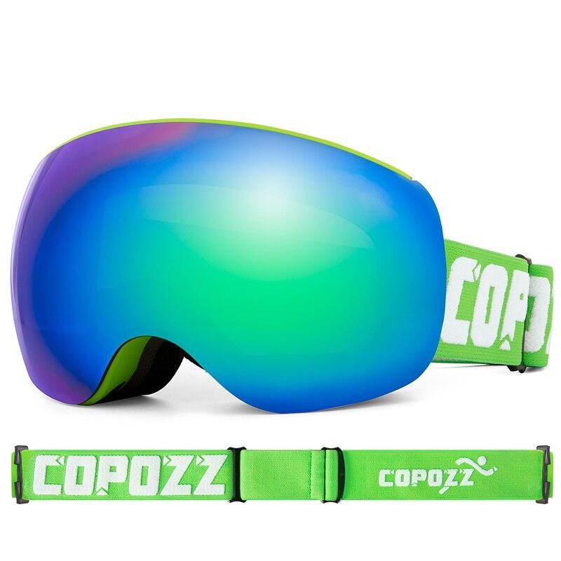 New Green Double Layer Ski Goggles Aldult Skiing Eyewear Men Women Outdoor Anti-Fog Safety Ski Goggles UV400 Sports Glasses Gift