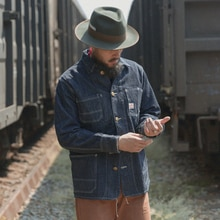 Bronson veste de chemin de fer vintage homme veste en jean brut