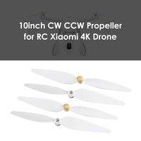2 пары/компл. оригинальный Набор пропеллеров CW + CCW Для дрона Xiaomi Mi 4K версия FPV Дрон Радиоуправляемый квадрокоптер запасные части лопасти